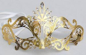China Gorgeous Womens Metal Masquerade Mask For Festival Celebration on sale