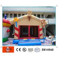 Interesting PVC Candy house commercial inflatable bouncers , Inflatable Combos for kids