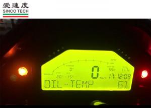 Motorcycle Oil Temperature Gauge , 6 5 Inch Digital Car