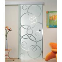 """5/16"""" Tempered Sliding Glass Doors With Smooth Surface Safety"""