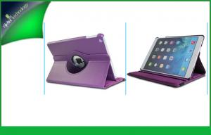 China Lovely Purple Shockproof Ipad Protective Cases , Leather Magnetic Cover For Ipad 5 on sale