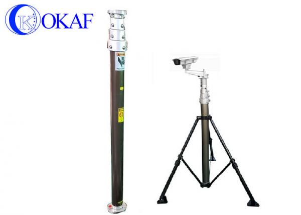 Air Compressor Operate Portable Antenna Mast , Telescoping