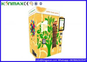 China Automatic Orange Juice Vending Machine Credit Card / Bill / Coin / Apple Pay / Alipay Operated on sale