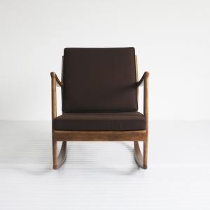 China Rody Single Rocking Arm Accent Chair Lounge With Solid Wood Legs on sale