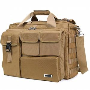 China Multifunction Military Laptop Messenger Bag , Tactical Computer Bag Brown Color on sale