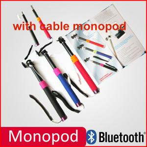 China stainless steel selfie stick with Bluetooth shutter button self portrait monopod on sale