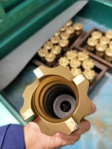 China High Speed Rock Magnetic Retractable Drill Bit Golden Color 34-115mm Dia on sale