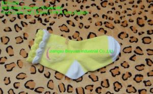 China infant plain yellow soft lace cotton socks in hot sell on sale