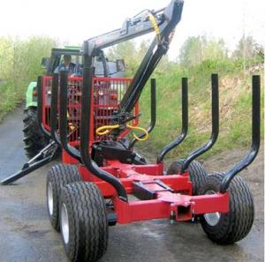 CE WOOD TRAILER WITH CRANE forestry equipment log trailers