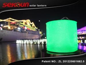 China Lanterna solar inflável leve de 10 diodos emissores de luz, lanterna de acampamento solar com 220 mAh on sale