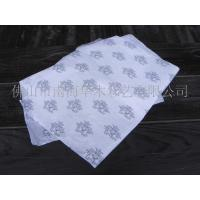 White Custom Wrapping Paper With Flower Pattern Round Square Rectangle Shape