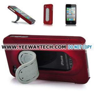 China iphone 4S hard cases -42354 Hard Plastic Case Cover With Stand Holder For iPhone 4 - Red on sale