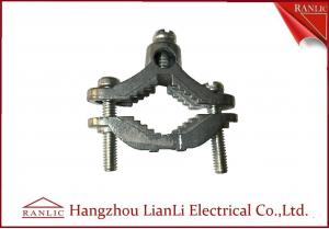 China Zinc Bare Wre Gound Clamps With Straps Brass Electrical Wiring Accessories on sale