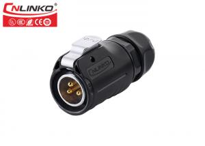 China LP20 3pin cable connector Outdoor Waterproof Landscape Wire Connectors  IP67  For Linear Actuator on sale