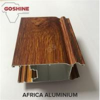 Industrial Wood Finish Aluminium Profiles For Polycarbonate Sheet OEM / ODM