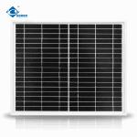 20W Mono Silicon Solar Panel for Home Solar Power System ZW-20W-18V-1 transparent glass solar panel