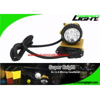 High Low Beam LED Mining Cap Lamp with 90 Degree Angle Adjustable Headlamp 25000 Lux Full Sealing Structure