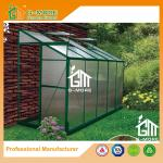 Green Color Wall Lean-to 4mm PC Aluminum Greenhouse - 10'x4'x6.7'FT