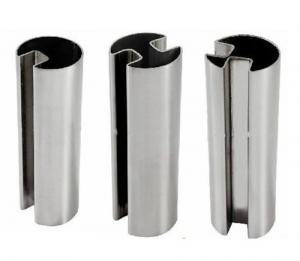 China 304 316 stainless steel channel tube and pipe for glass railings with mirror or hairline finish on sale