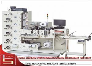 China Multicolor Letterpress Lntermittent Rotary Label Printing Machine , 60m/min on sale