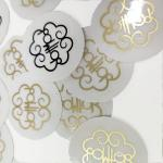 Holographic BOPP Gold Mailing Labels Foil Vinyl Sheets Anti Counterfeit