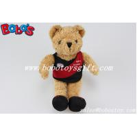 China 5.5 Brown Club Teddy Bear With Club Logo Printing T-shirt And Shoes on sale