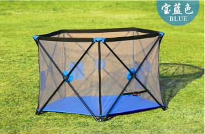 China Fabric Mesh Large Playpens For Babies / Collapsible Baby Fence Play Area on sale