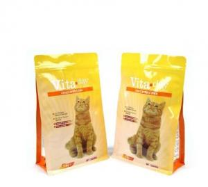 China custom printing plastic aluminum foil pet food packaging bags for dog and cat food on sale