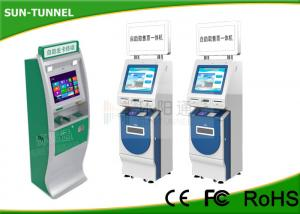 China 19 Inch Touchscreen Financial Services Kiosk With Cash Acceptor Indoor Application on sale