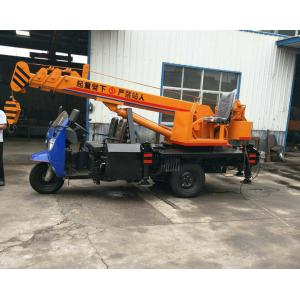 China Tricycle Hydraulic Truck Mounted Crane , 3- 5 Ton Lifting Mobile Truck Crane on sale