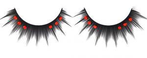 China Reusable Red Diamond False Eyelashes For Party , Brown False Eyelashes on sale