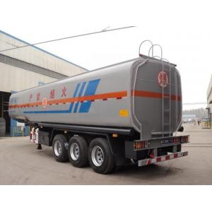 China Tri - axles 40000 Liters Fuel Oil diesel Tanker Semi Trailer for sale with oil discharge pipe or steel tube on sale