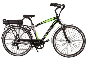 China V Brake Long Distance Electric Bicycle , Electric Battery Powered Bike on sale