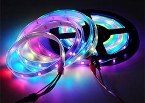 China 5m Cuttable LED Strips Magic Color 16.4ft 150 WS2812B White FPCB Non Waterproof on sale