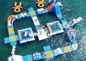 China Theme Water Inflatable Amusement Parks Aqua Park Slides 7 - 10 Years Lifespan on sale