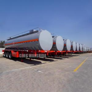 China chemical liquid tank truck trailer chemical transport tanker trailer semi tankers for sale on sale