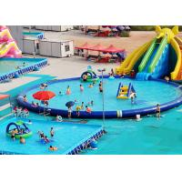 UV Resistance Commercial Inflatable Water Parks With Swimming Pool
