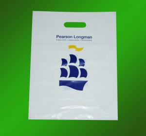 China Promotional LDPE, PP, HDPE Custom Carrier Bags Printed with Die Cut Handle for Shopping on sale
