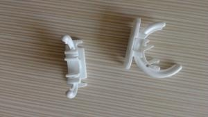 China Pc Clip Plastic Molded Parts , Insert Molded Parts High Accuracy Strong Strength on sale
