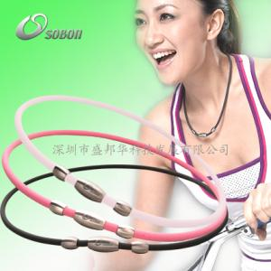 China Energy Silicone Elastic Fibre Germanium Health Power Balance Necklace on sale