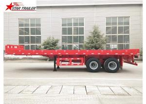 China FEA Analysis 40 Foot Flatbed Trailer , PRO - E Design Extendable Flatbed Trailer on sale