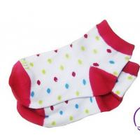 China OEM 100% Cotton seamless Anti - Slip Woven Short Tube Baby Socks on sale