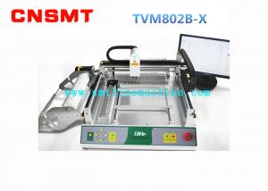 China Mini Automatic SMT Pick And Place Machine PCB Assembly CNSMT QIHE TVM802BX 2 HD Cameras on sale
