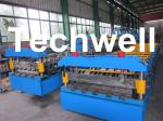 High Speed Galvanised Roofing Sheet Roll Forming Machine With Hydraulic Cutting