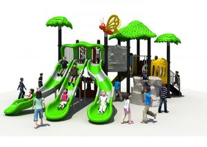 China Green Children Outdoor Playground Equipment ,KAI QI Kids Playground Slide on sale