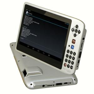 Industrialized Android OS tablet PC with 1D barcode scanner