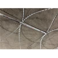 China 10 Kg / Coil Concertina Razor Barbed Wire With Different Blade Wire on sale