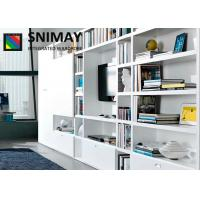 Contemporary Small Wooden TV Cabinets with Storage Showcase / Drawers