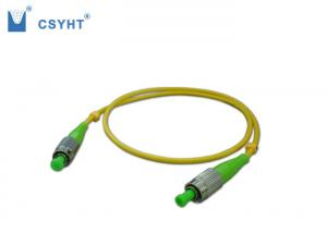 China FC SM Fiber Optic Jumper Cables Low Insertion Loss And Back Reflection Loss on sale