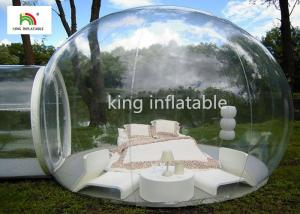 China 4.5m Transparent Inflatable Bubble Tent With Tunnel For Outdoor Camping Rent on sale